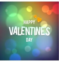 Happy valentine s day bokeh rainbow vector