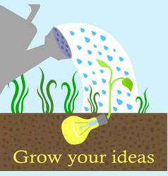 Innovative idea growing concept vector