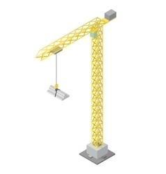 Isometric industrial crane vector
