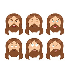 Jesus emotions set expressions picture of jesus vector