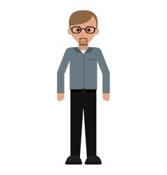 Man adult glasses leadership office work vector