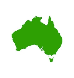 Map of Australia 380x400 vector image vector image