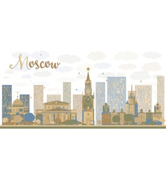 Moscow city skyline vector
