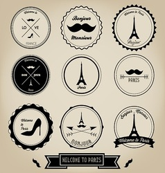 Paris France Vintage Label vector image
