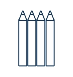 Pencils drawing object vector image