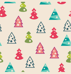 seamless pattern of christmas trees vector image
