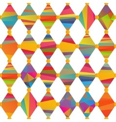 Seamless pattern with carnival rhombus vector