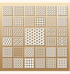 set of die cut cards vector image