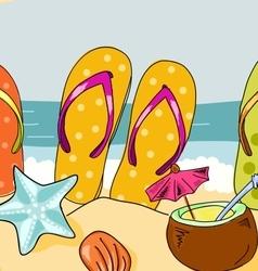 Set of sandals vector