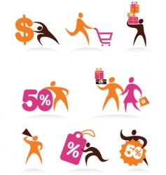 shopping logos vector image