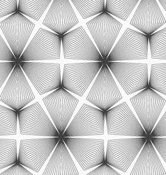 Slim gray linear stripes rhombus trefoils vector image vector image