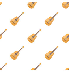 Yellow guitar hippy single icon in cartoon style vector