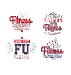 Retro Badges Fitness vector image