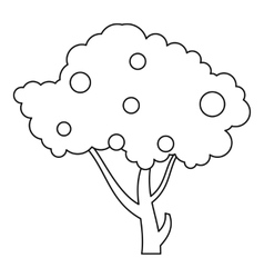 Apple tree icon outline style vector