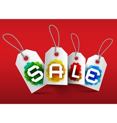 Sale Tags Business Labels with Strings and vector image