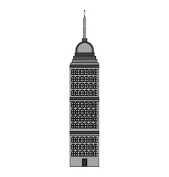 Isolated tower building design vector