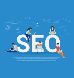 Seo concept of people vector