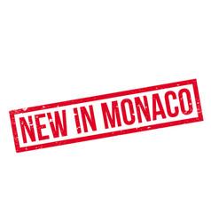 New in monaco rubber stamp vector