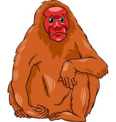 uakari animal cartoon vector image