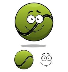 Happy cartoon tennis ball vector image
