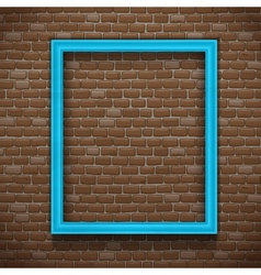 Blue frame on wall vector