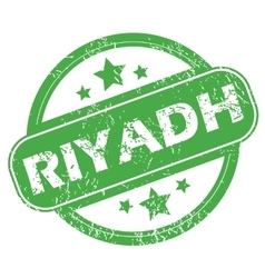 Riyadh green stamp vector