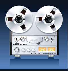 hifi analog stereo vector image
