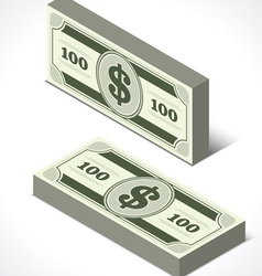 Dollars money in perspective vector image