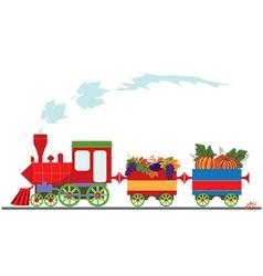 autumnal retro locomotive vector image vector image