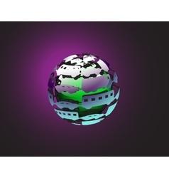 car ball earth vector image