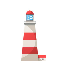 cartoon light house vector image