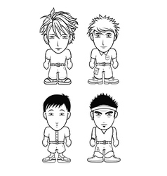 Chibi avatar bw collection vector