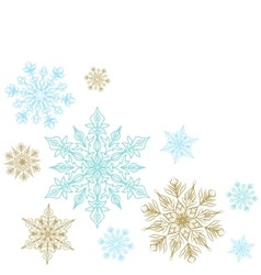 Christmas decoration with snowflakes vector