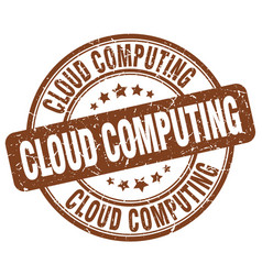 Cloud computing brown grunge stamp vector