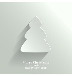 Creative White Christmas Tree vector image vector image