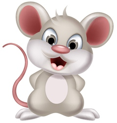 cute mouse cartoon posing vector image vector image