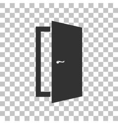 Door sign dark gray icon on vector