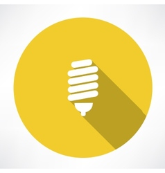 energy saving lamp icon vector image