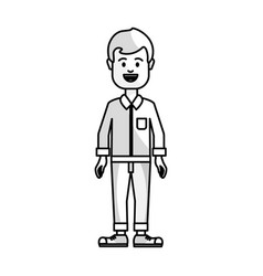figure people man with casual cloth avatar icon vector image vector image
