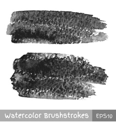 Gray Watercolor Brush Strokes vector image vector image