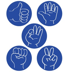Hand icon vector image vector image