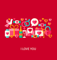 I love you greetings concept vector