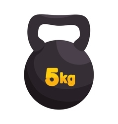 Kettlebell weight gym sport vector