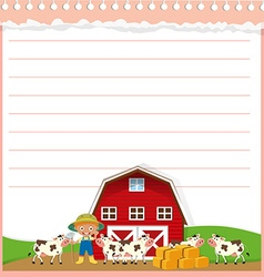 Paper design with agricultural theme vector