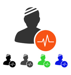 Patient pulse flat icon vector