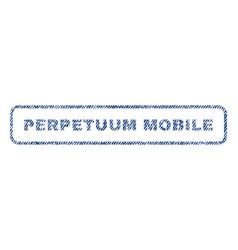 Perpetuum mobile textile stamp vector