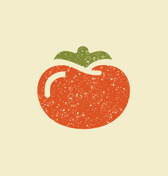 stylized flat icon of a tomato vector image vector image