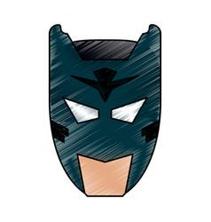 superhero character cartoon vector image vector image