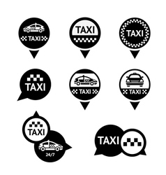 Taxi - set emblems vector image vector image