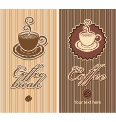 two coffee vector image vector image